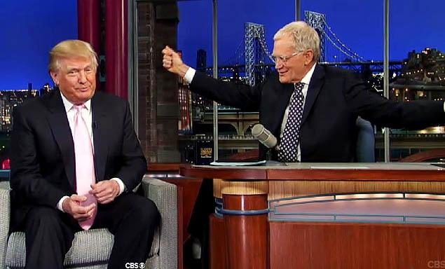 Donald Trump on the David Letterman show.