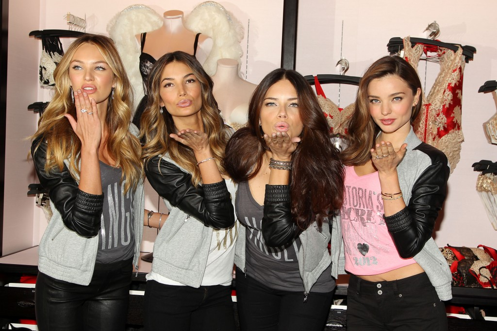 Morning frenzy as Victorias Secret Angels, Adriana Lima, Miranda Kerr, Candice Swanepoel, and Lily Aldridge appear at NYC flagship store.
