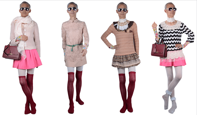 72 year old grandfather models womens clothes and becomes instant fashion star….