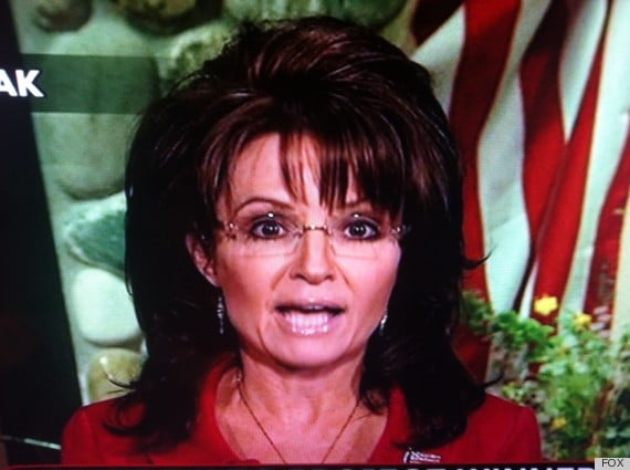Oh really? Sarah Palin shows up with 80s hairstyle and frosted lip gloss for Fox news.