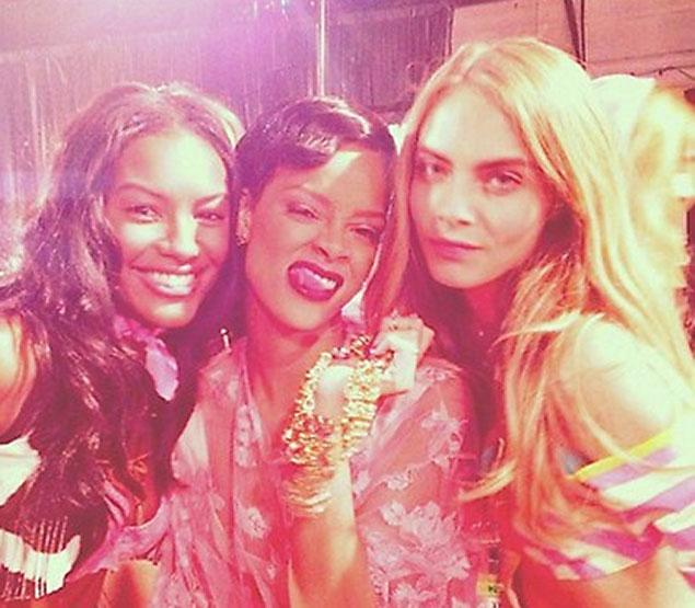 Rihanna and Victoria's Secret models