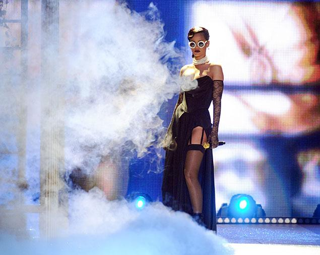 Rihanna performing at Victoria's Secret fashion show.