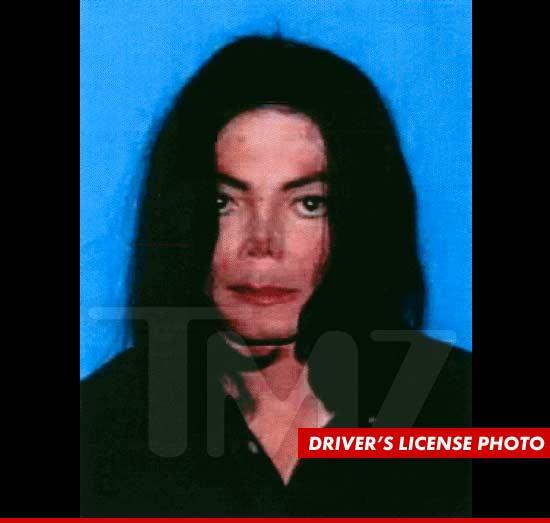 Michael Jackson driver's license
