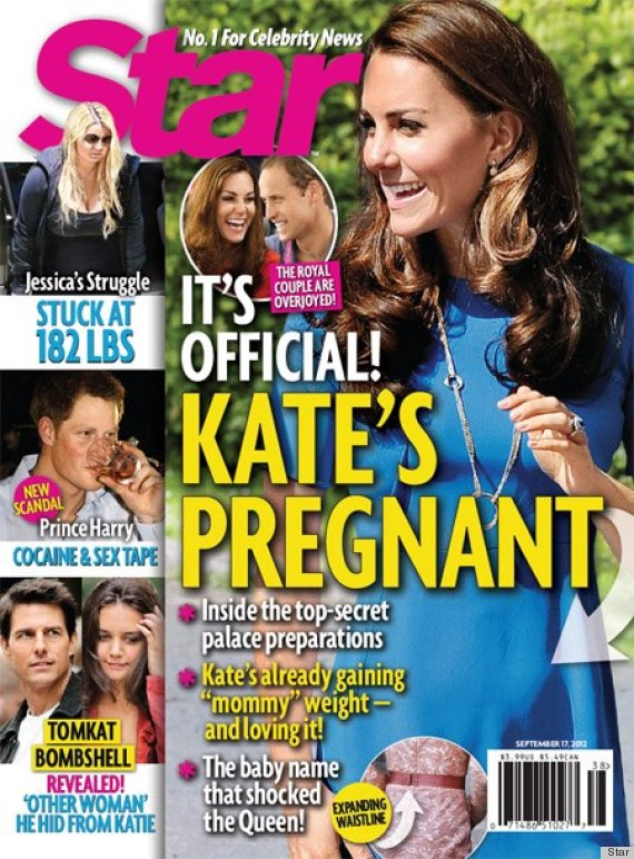 Kate Middleton pregnant but palace fears miscarriage as eating disorder rumors spring.