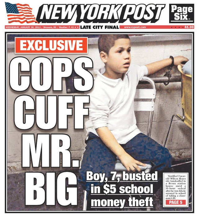 7 year old boy arrested and interrogated over $5