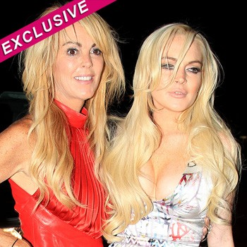 Lindsay Lohan and Dina party in London non stop. Glazed eyes.