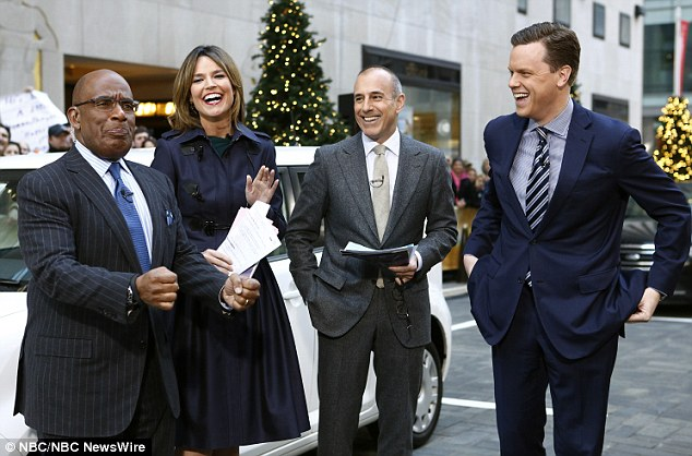 Al Roker, Savannah Guthrie, Matt Lauer, Willie Geist