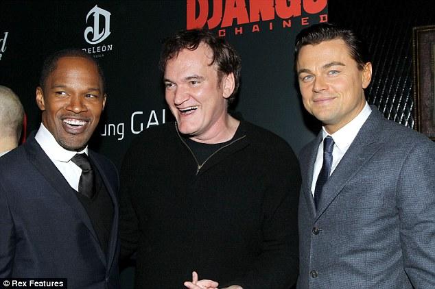 Django Unchained: Jamie Fox, Quentin Tarantino, Leonardo DiCaprio