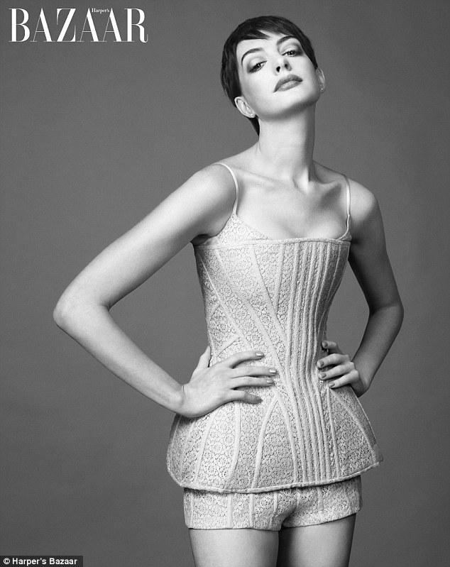 Anne Hathaway for Harper's Bazaar.