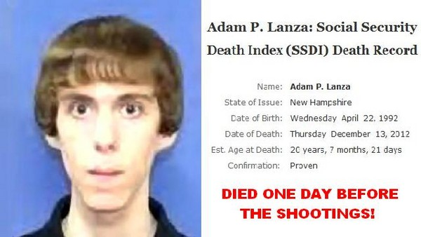 Adam Lanza said to have died a day before Sandy Hook shooting. Conspiracy?