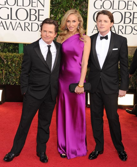 Michael J Fox with son Sam Fox and Tracey Pollan