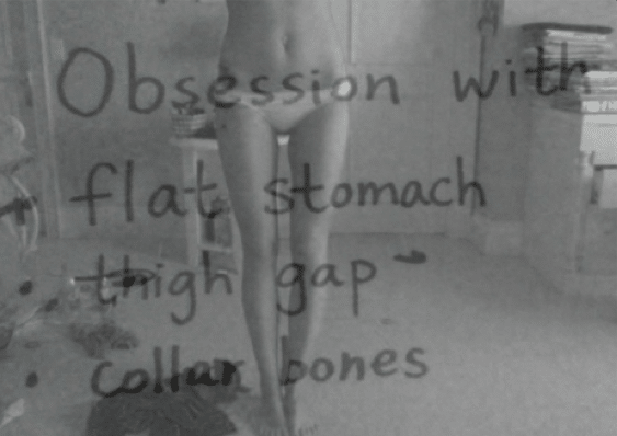 The thigh gap is now a trend courtesy of skinny models.