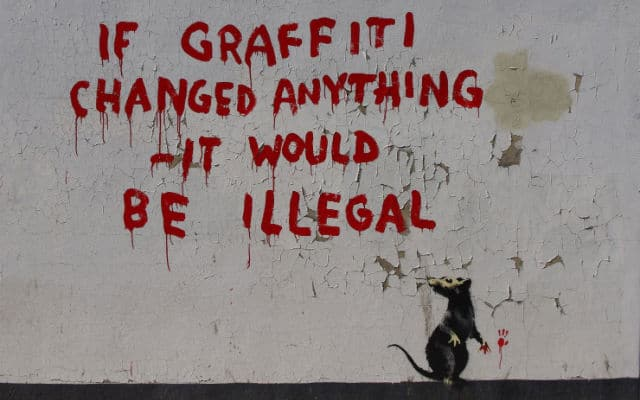 Banksy arrested