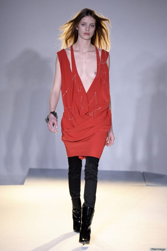(NSFW) Edun runway show leads to nipple slip and mass hysteria.