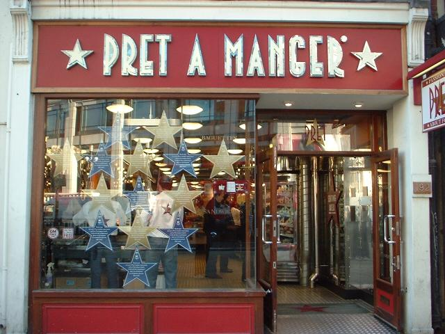 Prêt a Manger labor rules require happy workers to touch each other or be sacked.
