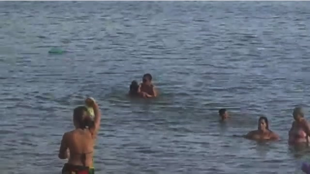 Brazilian couple sex on the beach