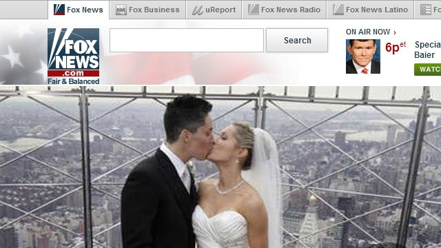 Fox news use lesbian marriage picture by mistake to affirm traditional heterosexual marriage.