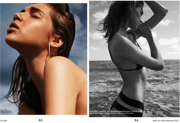 Anais Pouliot is a bikini babe for Bon Spring/Summer 2013