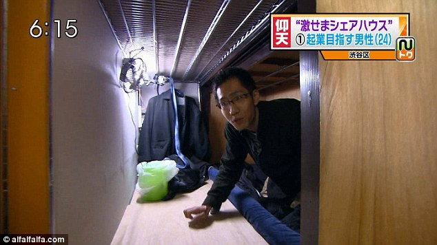 Japanese $600 apartment coffin
