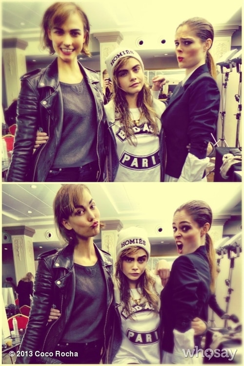 Karlie Kloss, Cara Delevingne, and Coco Rocha