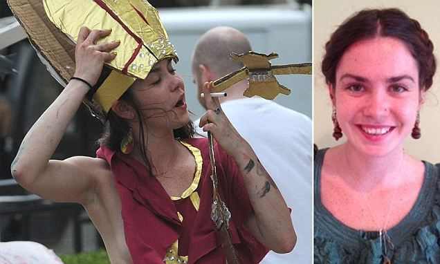 Carnegie Mellon Student Katherine O Connor arrested for dressing as the pope and being naked waist down.