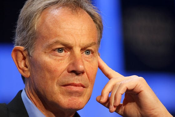Oh really? Tony Blair insists he didnt have an affair with Wendi Deng.