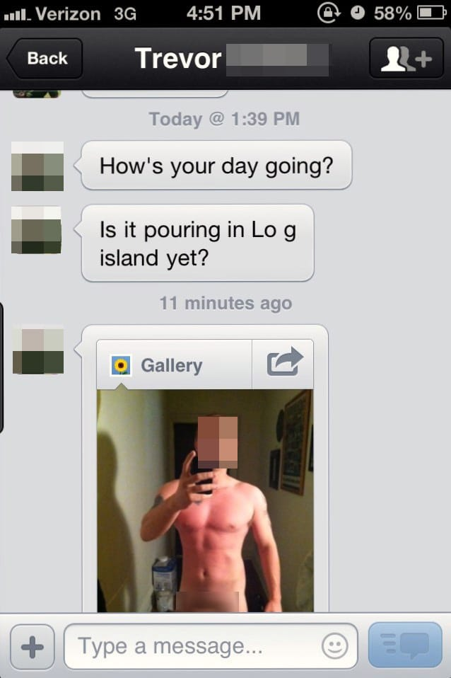 Lets date: Girl sends creepy mans mother picture of his cock that he sent her.