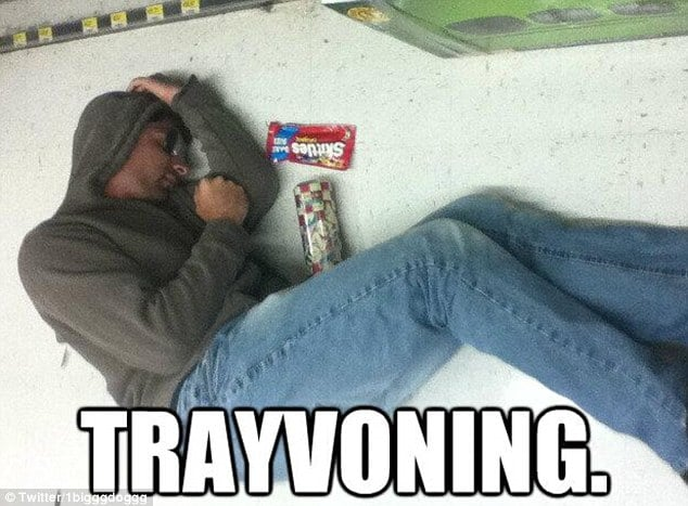 Trayvoning, posing like Trayvon Martins dead body for laughs
