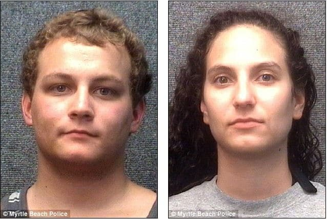 Couple arrested having sex inside their motel room cause the curtains were open.