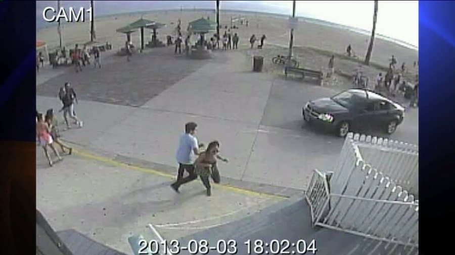 Venice boardwalk beach crash leads to arrest. Honeymooner killed, eleven injured.