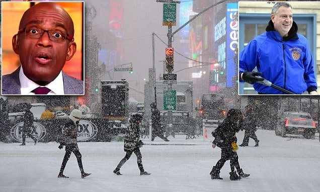 Al Roker calls class war on Mayor Bill De Blasio over snow failures.