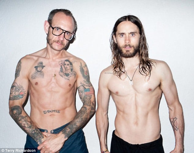 Jared Leto becomes Terry Richardsons wet dream photo shoot.