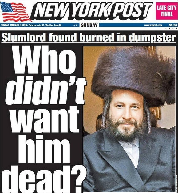 Should the NY Post apologize over their Menachem Stark headline?