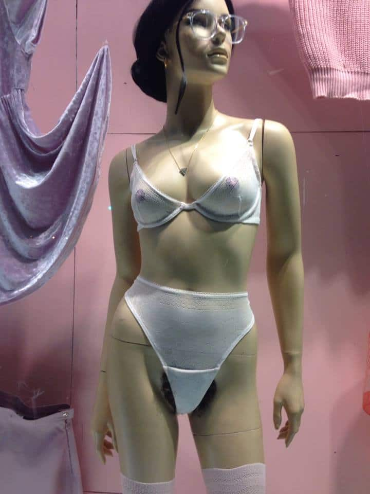 Store mannequins are now getting more real. Ungroomed bikini lines.