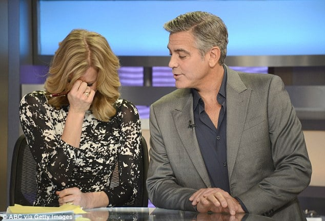 GMA host Lara Spencer has a thing for George Clooney and sexual injections.