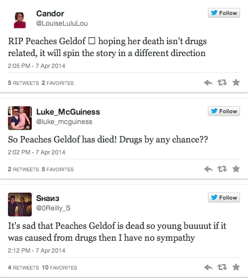 How did Peaches Geldof die? Did she overdose?