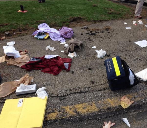 Nate Scimio pulls the alarm on Pennsylvania school stabber. Takes hospital selfie