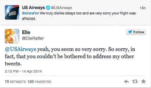 US Airways account tweets masturbating picture to complaining customer