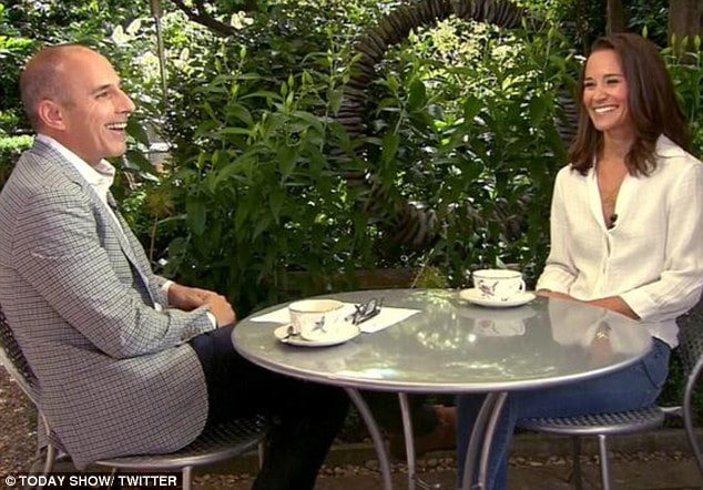 Pippa Middleton explains to Matt Lauer what its like to be a well to do socialite