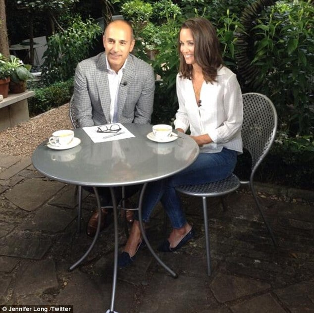 Pippa Middleton Matt Lauer