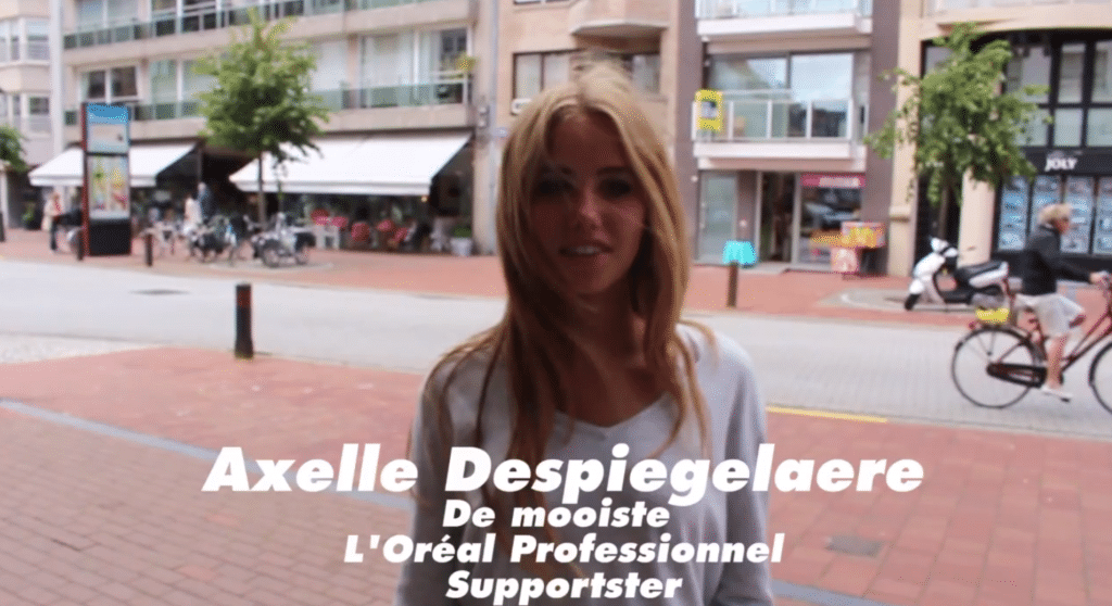 Axelle Despiegelaere cut by LOreal over hunting pictures.