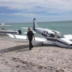 Ommy Irizarry killed when plane makes emergency landing on beach.