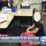 Heavy handed? Texas first grader forced to sit on floor with clipboard for one month as punishment