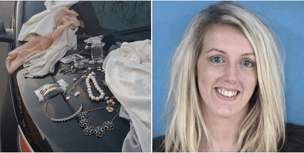 Brooke Amber Sutton steals $2k designer clothes, pees in dressing room