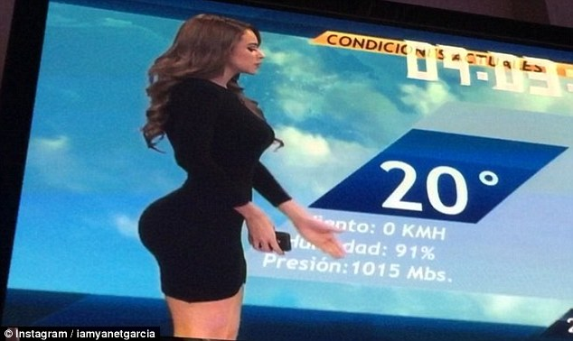 Garcia Mexico  city photos gallery : Did I enhance my butt ' Yanet Garcia Mexican weather girl photos ...