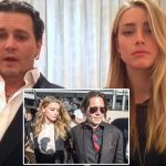 Pictured Johnny Depp and Amber Heard.