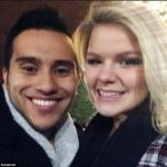Pictured Taylor Sheats and her fiance,