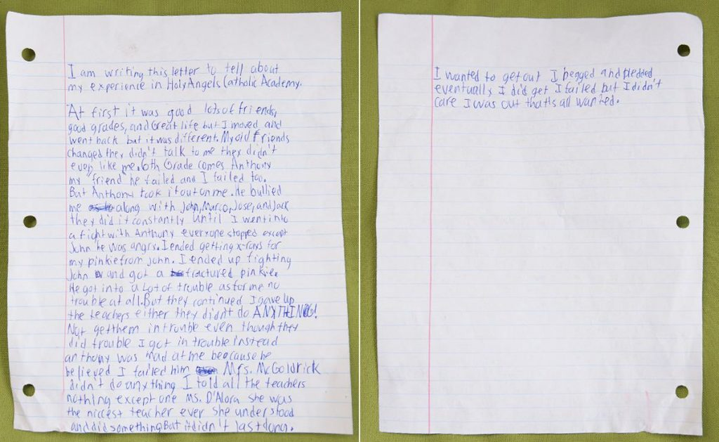 Bullied boy kills himself, leaves behind heartbreaking letter describing his battle