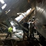 Hoboken train station crash. Image via twitter.