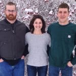Megan Sloss pictured with her brothers, Kyle on the left and Spencer on the right.